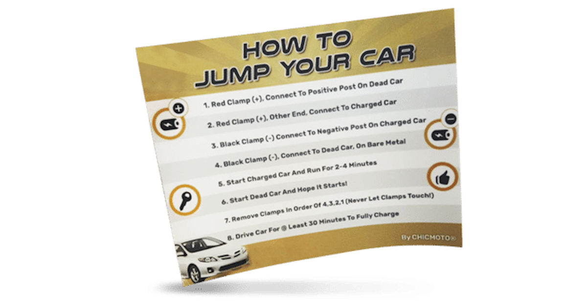 FREE How To Jump Your Car Stic...