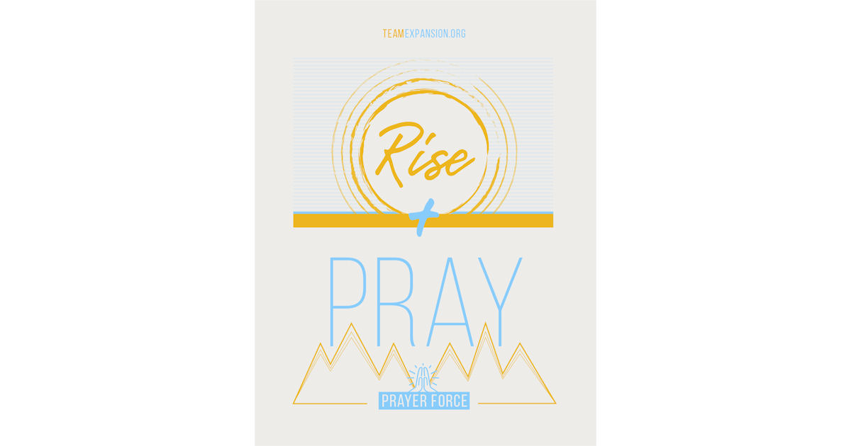 FREE Rise + Pray Window Cling.