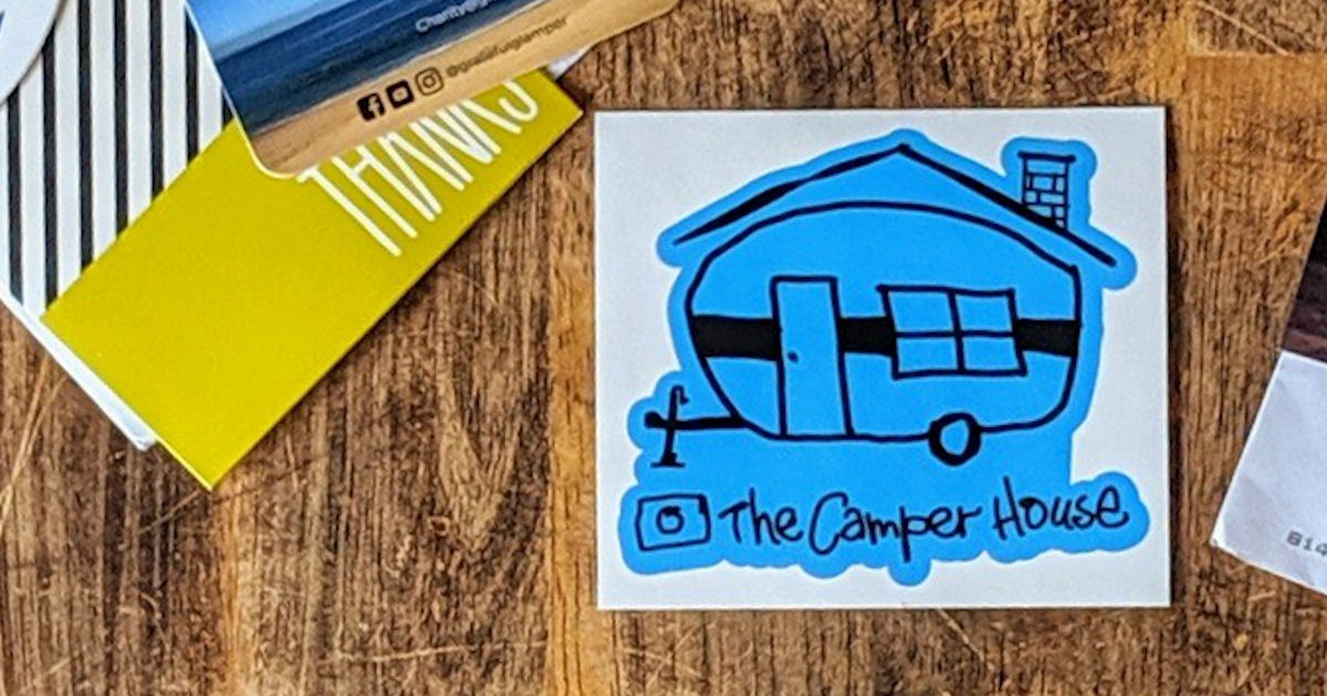 FREE The Camper House Sticker.