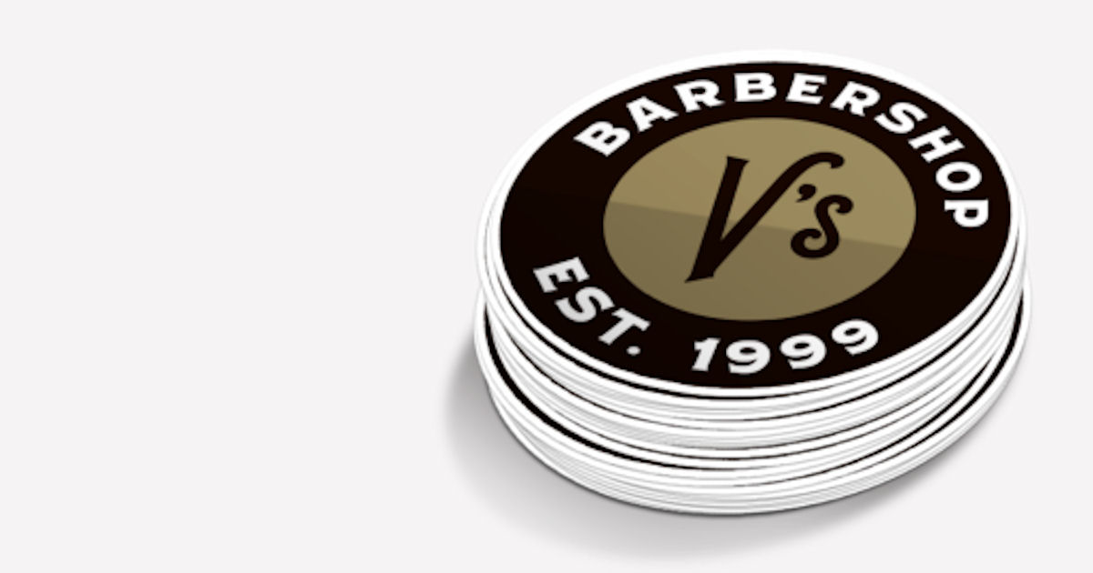 FREE V's Barbershop Stickers..