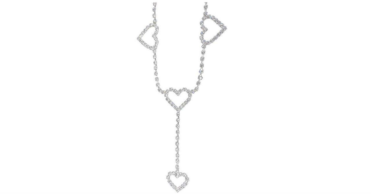 Rhinestone Love Waist Chain Necklace ONLY $3 Shipped