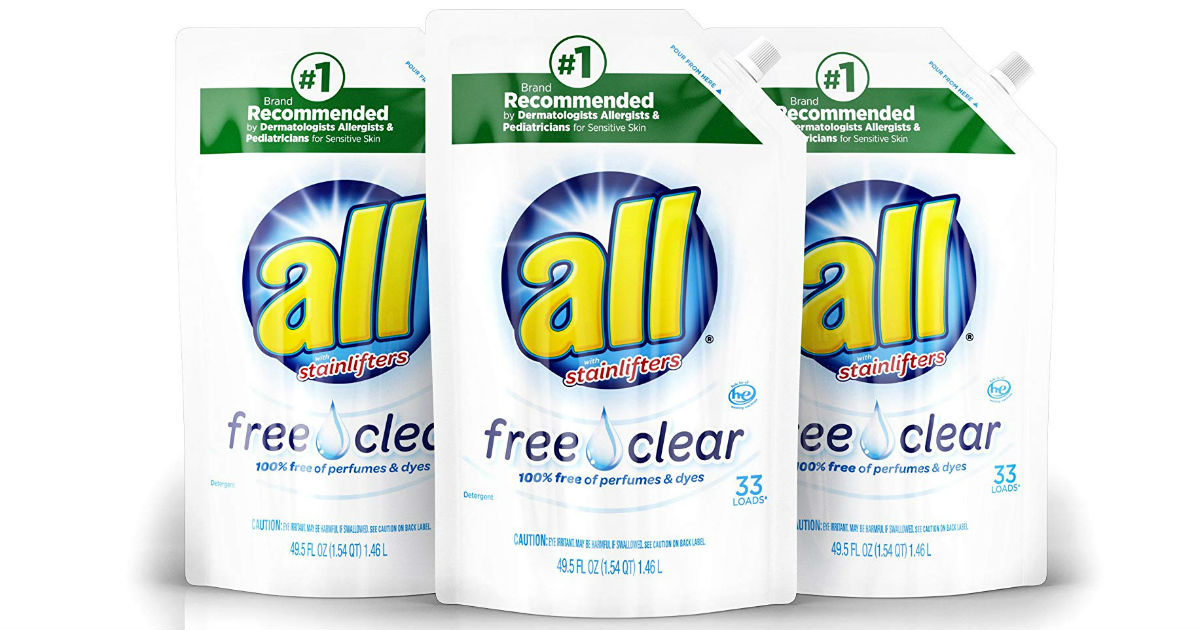 All Liquid Laundry Detergent Pouch 3-Pack ONLY $9.94 Shipped