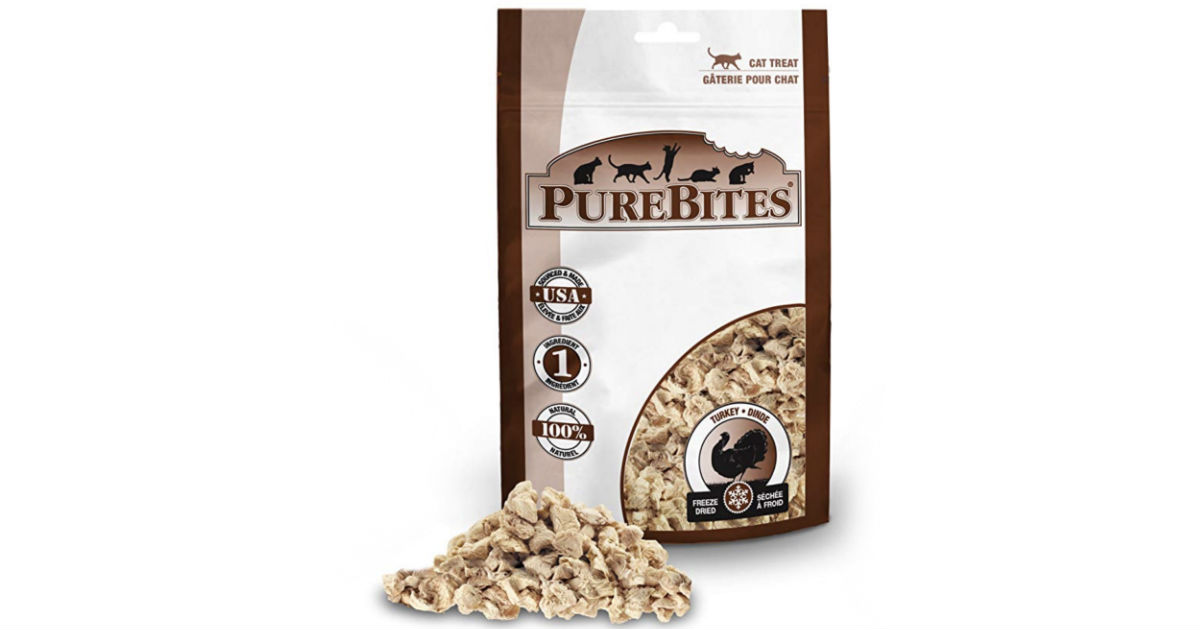 PureBites Turkey Freeze-Dried Treats for Cats ONLY $0.94