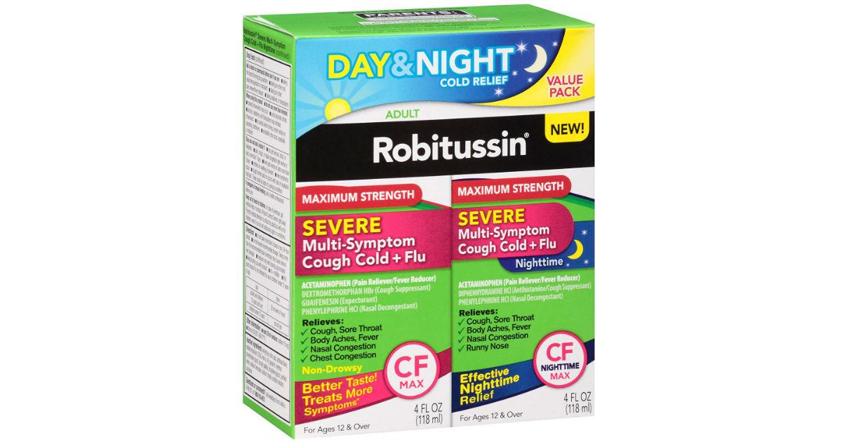Robitussin Severe Multi-Symptom 2-Pack ONLY $5 (Reg $11)