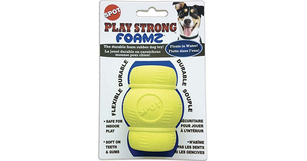 Ethical Pets 2.75in Play Strong Foamz Rubber Dog Chew ONLY $2.32