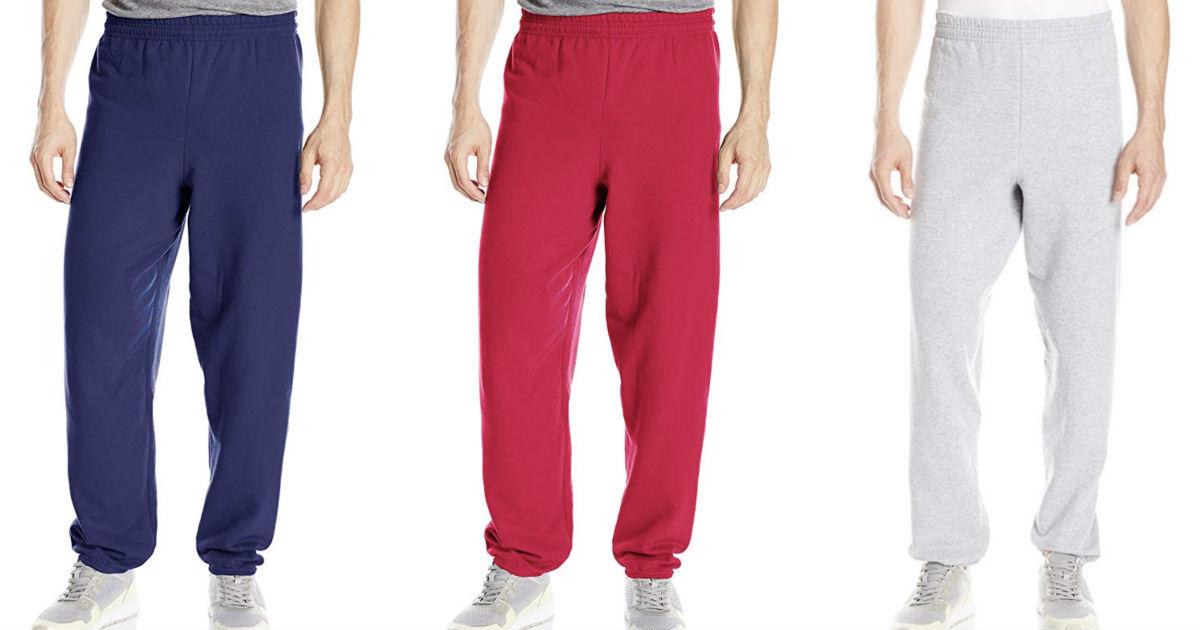 Hanes Men's EcoSmart Fleece Sweatpants ONLY $5.50 on Amazon