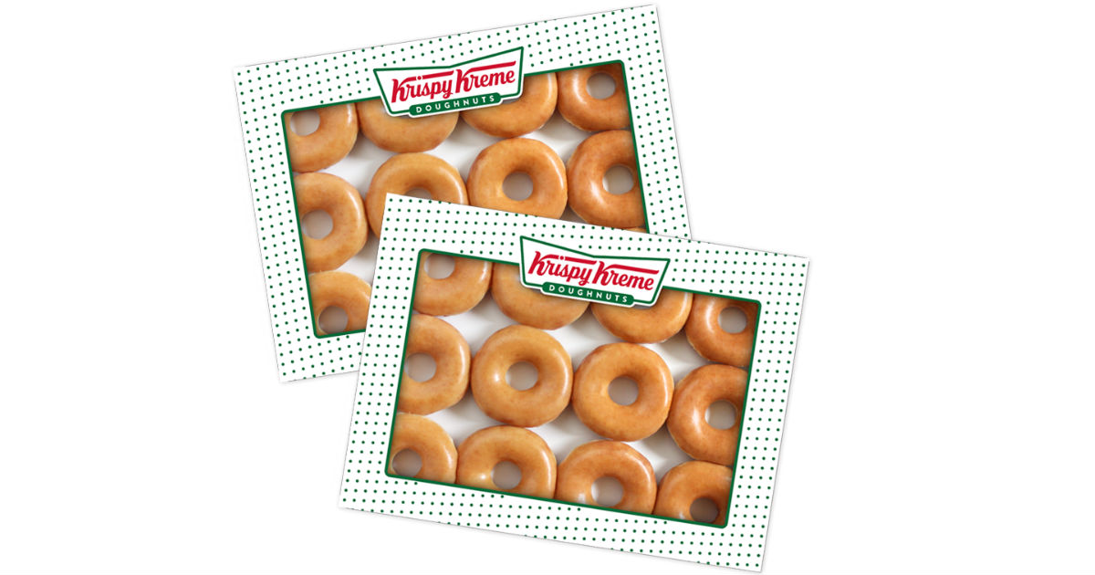 photograph regarding Krispy Kreme Printable Coupons identified as $13 for 2 Dozen Krispy Kreme Doughnuts - These days Just