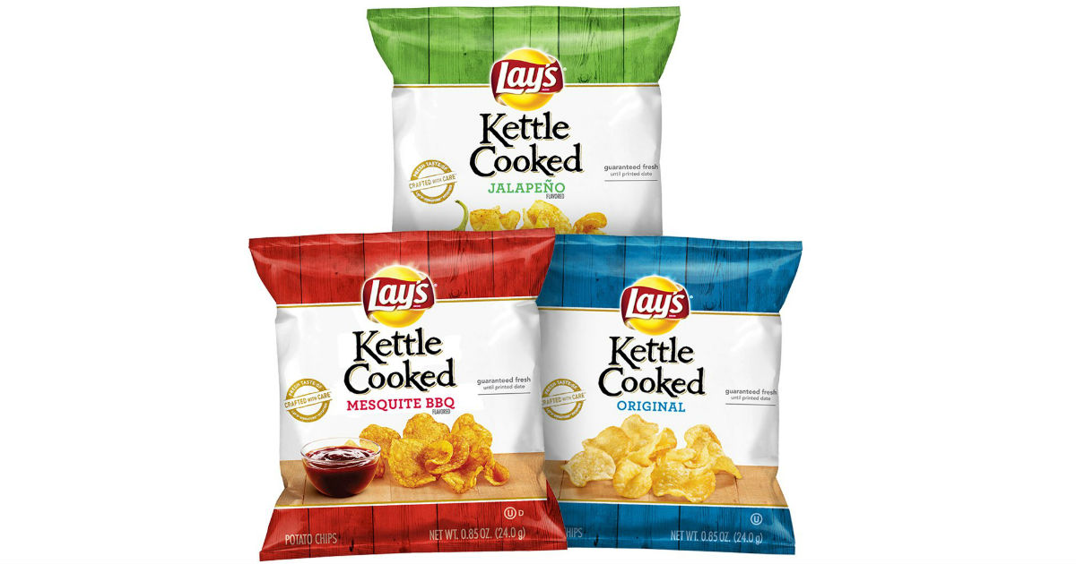 Lay's Kettle Cooked Potato Chips 40-Pack ONLY $8.74 Shipped