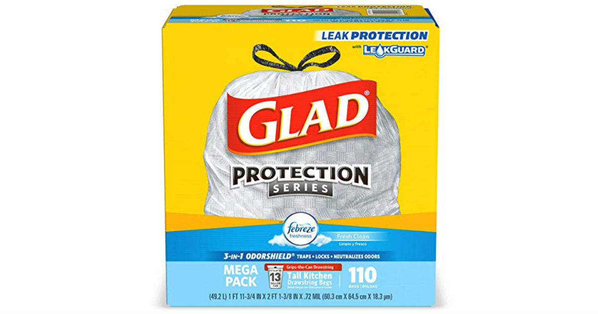 Glad Tall Kitchen Trash Bags 110-Count ONLY $12.28 Shipped