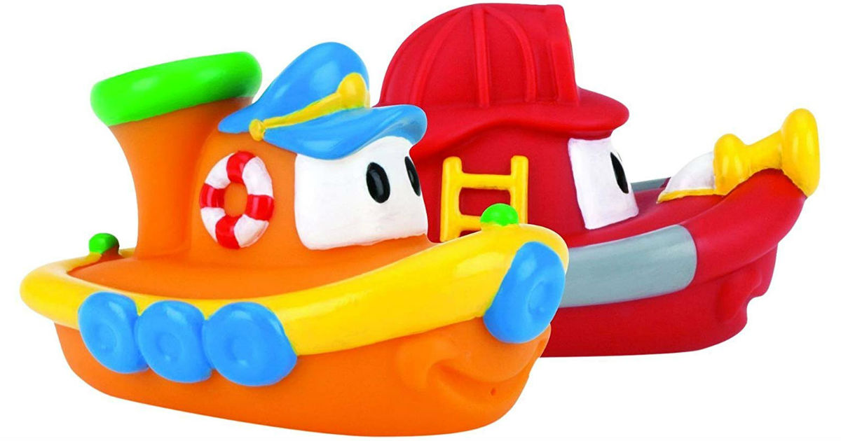 Nuby 2-Pk Tub Tugs Floating Boat Bath Toys ONLY $4.73 (Reg $12)