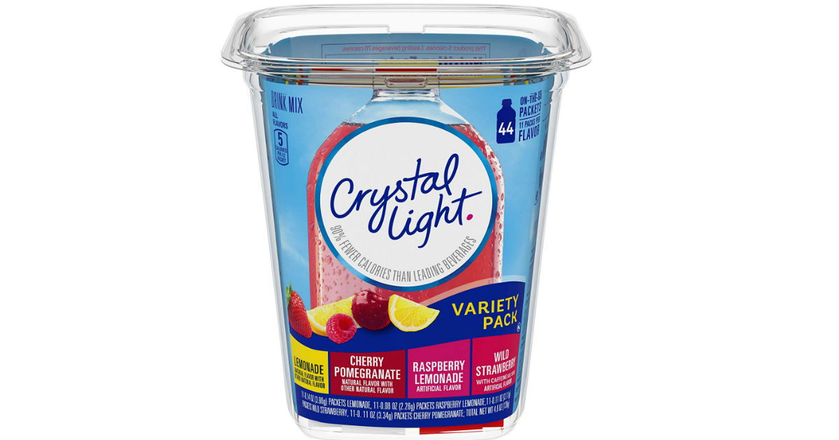 Crystal Light Variety Pack Drink Mix 44-Pack ONLY $4.83 Shipped