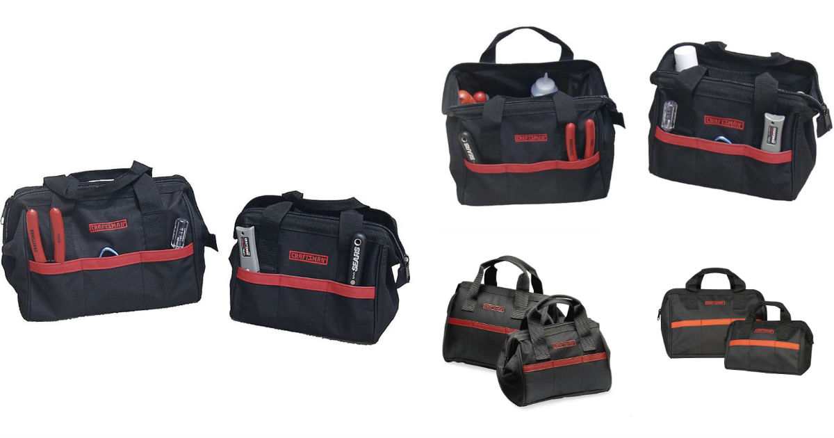 Craftsman 10 in & 12 in Tool Bag Combo ONLY $4.94 at Sears