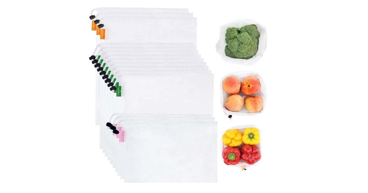 Premium Reusable Produce Bags 15-Count ONLY $9.34 (Reg. $31)
