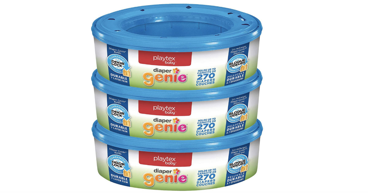 Playtex Diaper Genie Refill Bags 3-Pk 810-ct ONLY $9.28 Shipped