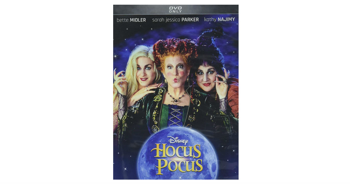 Hocus Pocus 25th Annivrsary DVD ONLY $4.25 on Amazon