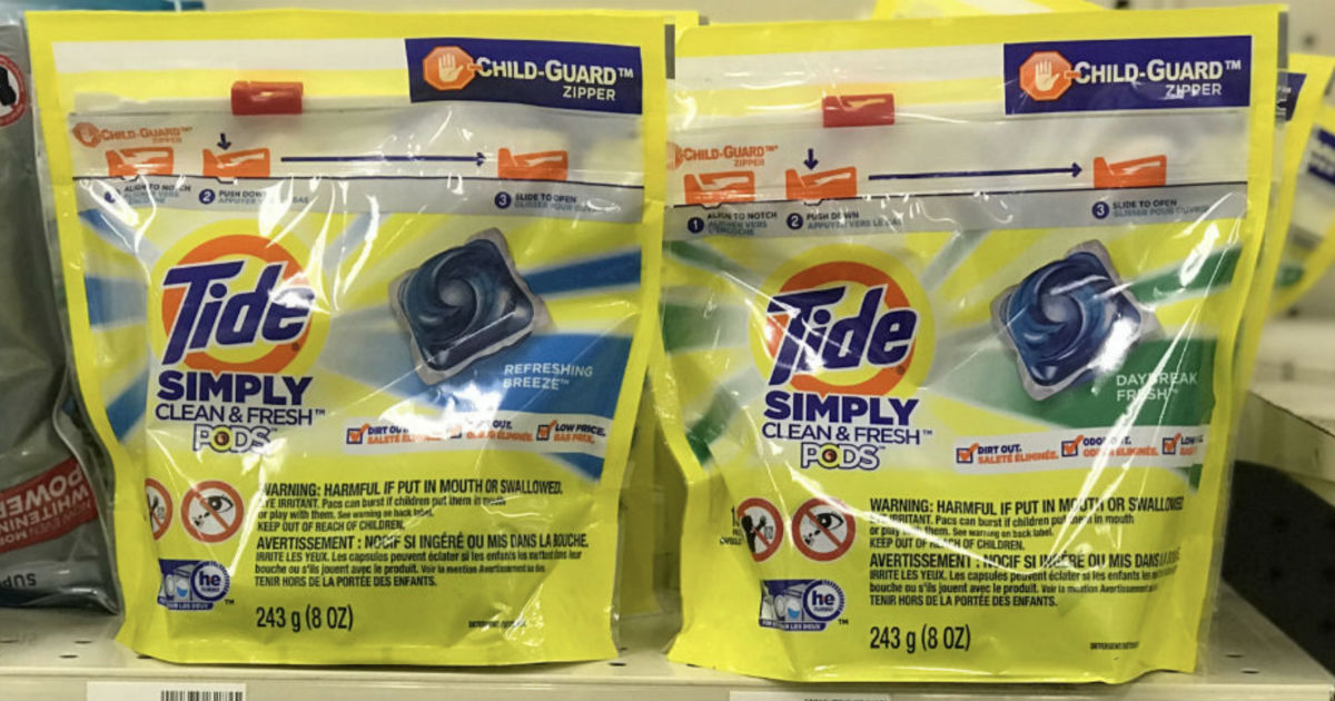 Tide Simply Pods ONLY $0.50 at Walgreens (Reg $6)