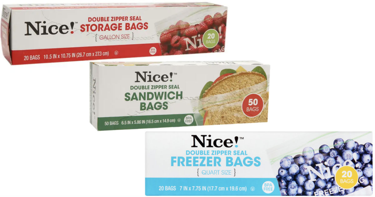 Nice! Storage, Sandwich & Trash Bags ONLY $0.93 at Walgreens