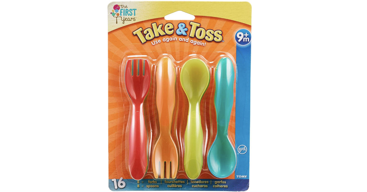 The First Years Take & Toss Flatware for Kids 16-Pc ONLY $1.99