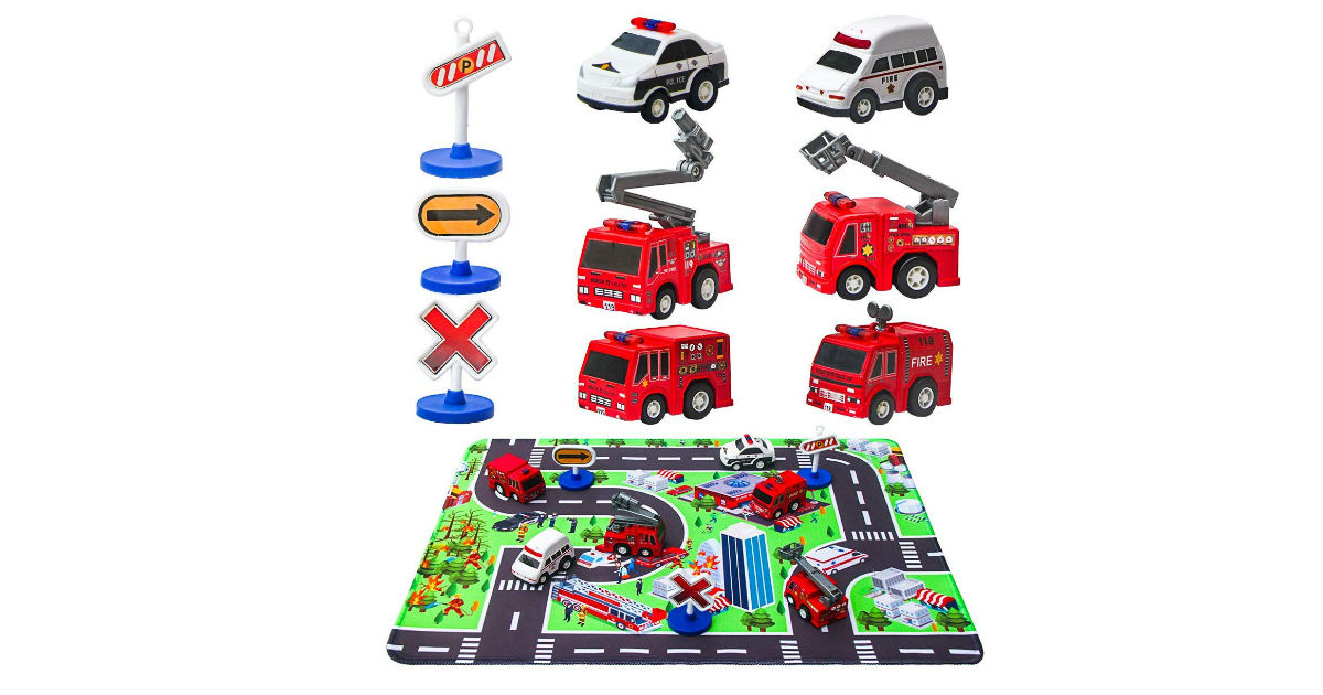 Fire Truck Toys and Play Mat ONLY $8.49 (Reg. $17)