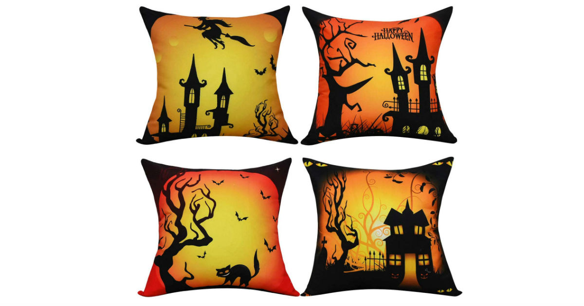 Halloween Pillow Covers 4-Pack ONLY $9.51 (Reg. $21)