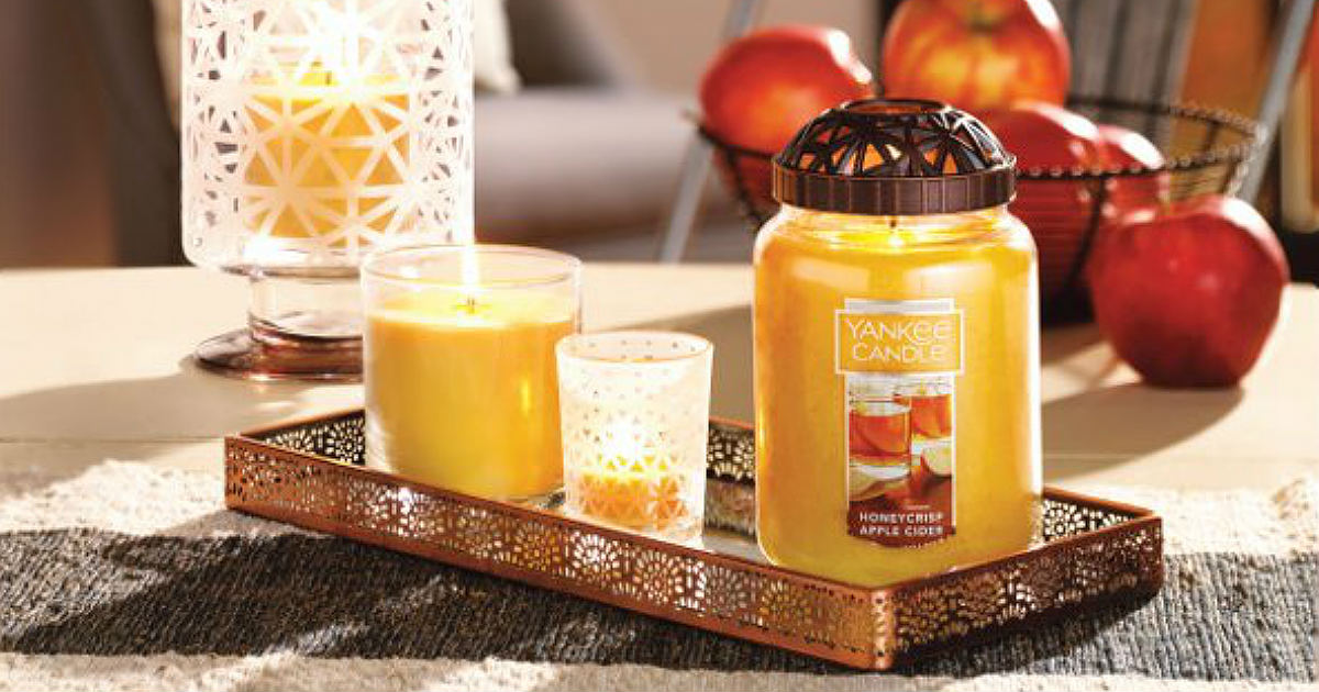 3 for $45 Large Yankee Candles + 25% Off Halloween Accessories