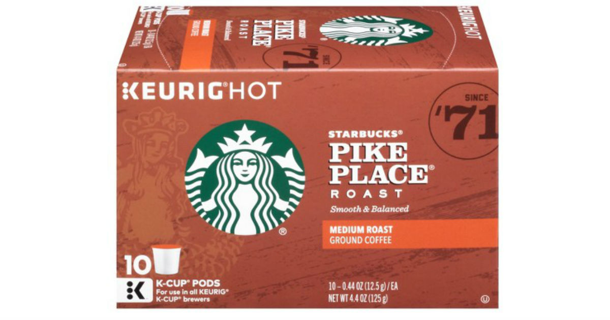 Starbucks PLUS K-Cups 10-Count ONLY $3.99 at CVS