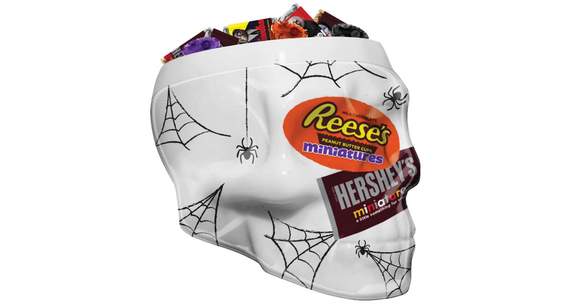 Hershey's Halloween Candy in Skull Bowl ONLY $14.66 (Reg. $31)