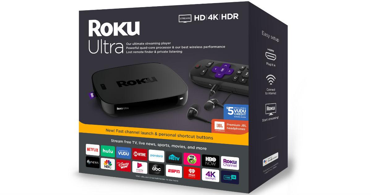 Roku Ultra Streaming Media Player ONLY $79 (Reg $100)