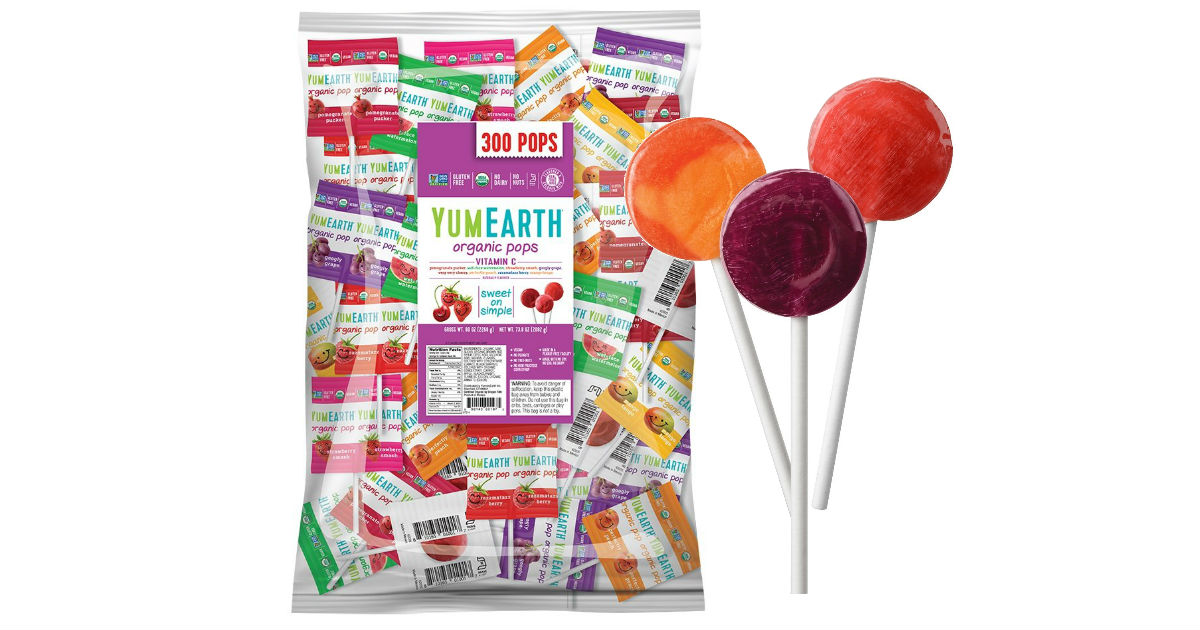 YumEarth Organic Lollipops 300-Pack ONLY $21.53 Shipped