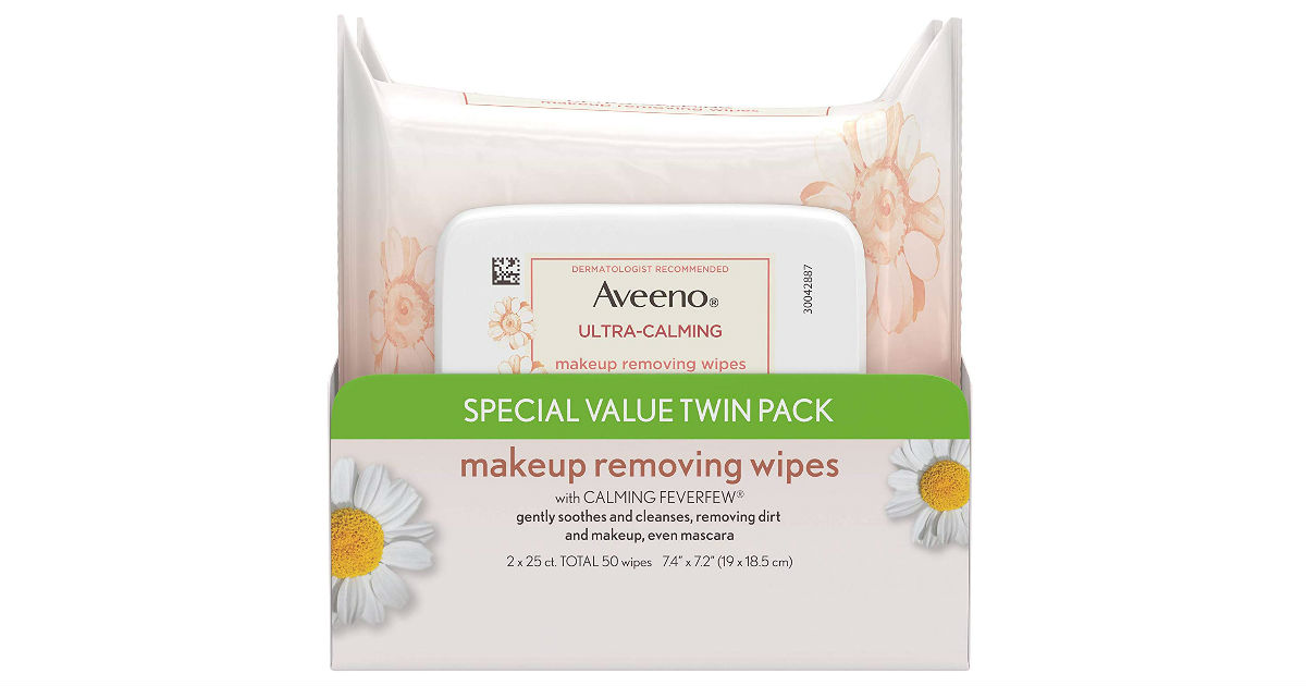 Aveeno Makeup Removing WIpes ONLY $5.98 (Reg. $12)