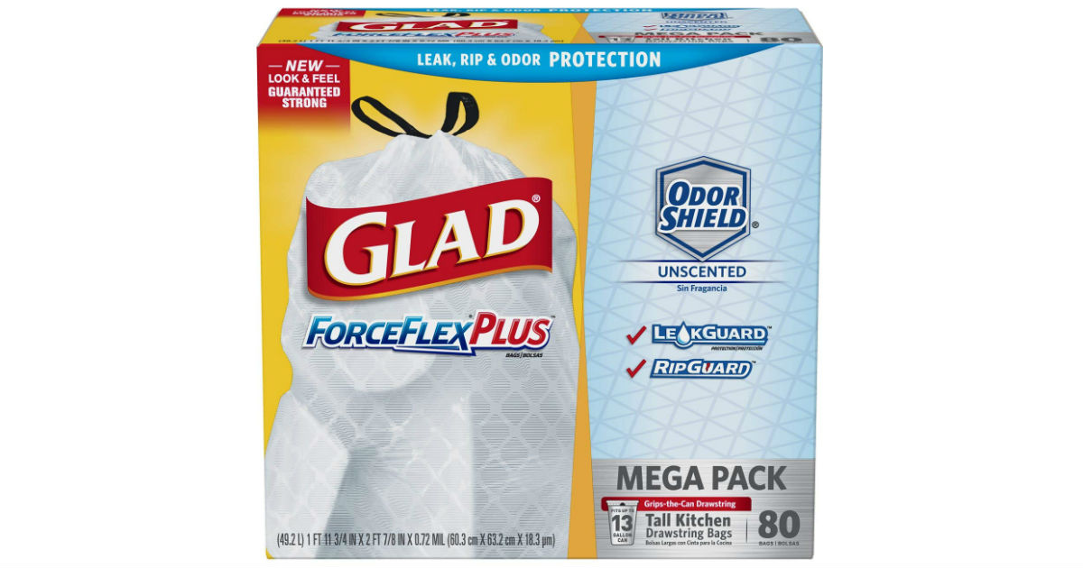 Glad Tall Kitchen Drawstring Trash 80-ct bags ONLY $7.40 Shipped