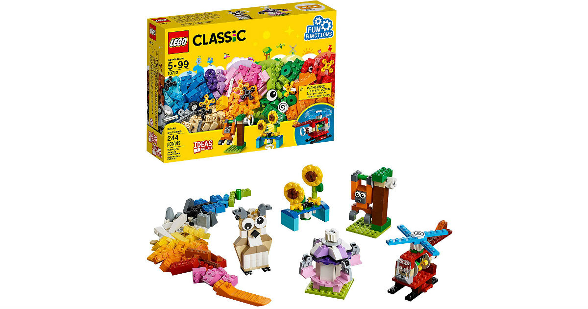 LEGO Classic Bricks and Gears 244-Piece ONLY $11.99 (Reg $20)