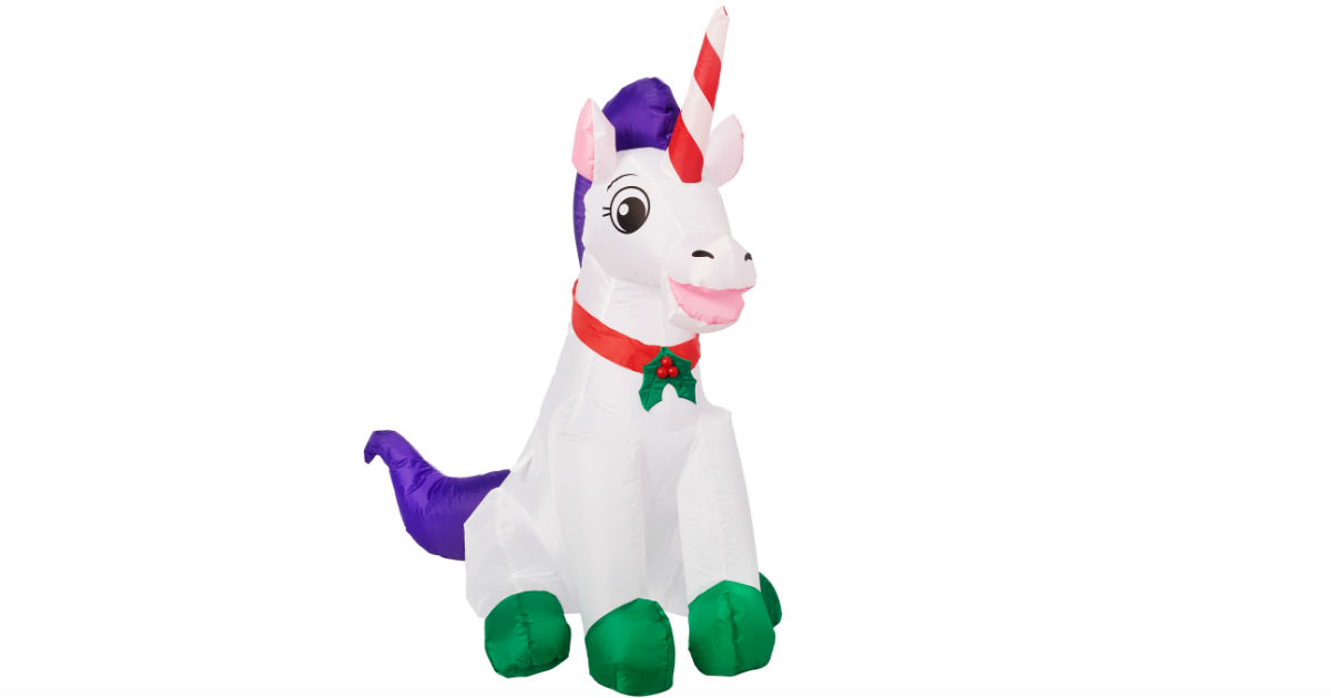Holiday Time Yard Inflatables Unicorn ONLY $14.98 at Walmart