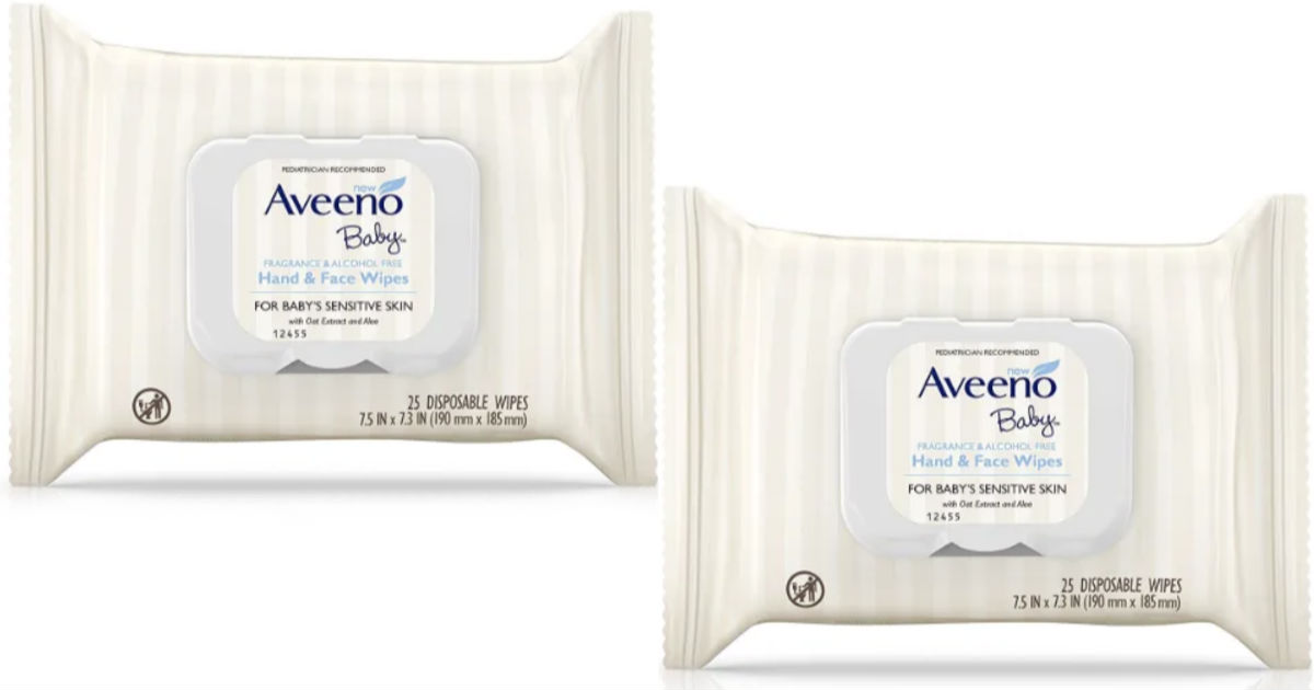 Aveeno Baby Hand & Face Wipes 25-ct ONLY $1.49 at Target