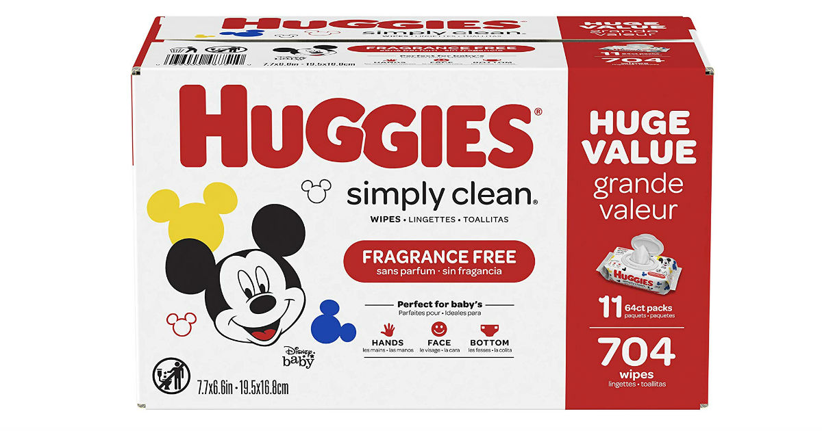 Huggies Simply Clean Wipes 704-Count ONLY $10.78 (Reg. $18)
