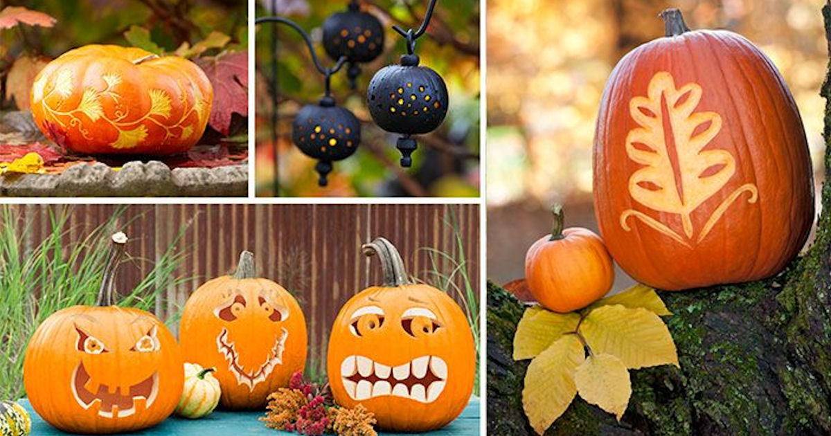 FREE Easy Pumpkin Carving Ideas & Stencils | Halloween
