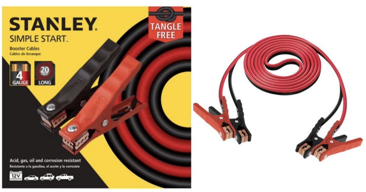 STANLEY 4 Gauge- 20 Ft Automotive Booster Cables ONLY $16.98