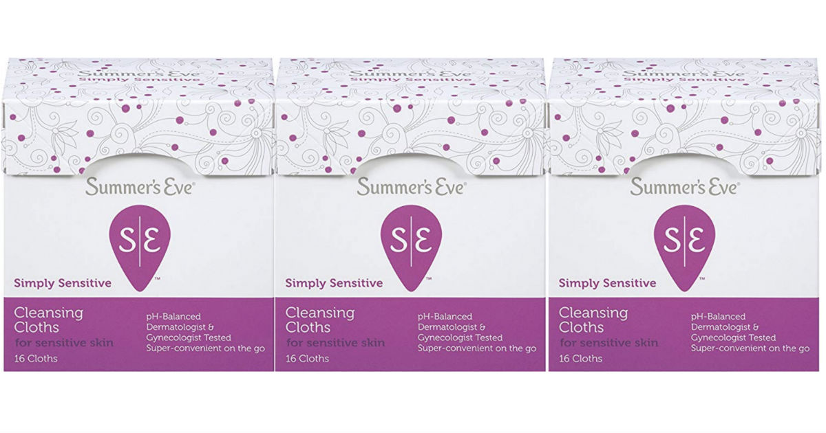 Summer's Eve Cleansing Cloths 3-Pack ONLY $4.90 Shipped