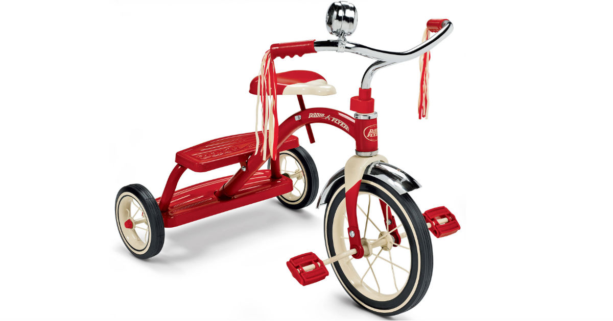 Radio Flyer, Classic Red Dual Deck Tricycle ONLY $44 (Reg $70)