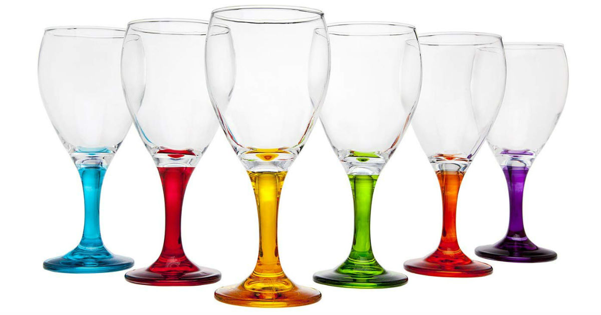 Multi Color Wine Glasses Set of 6 ONLY $20.36 (Reg. $50)