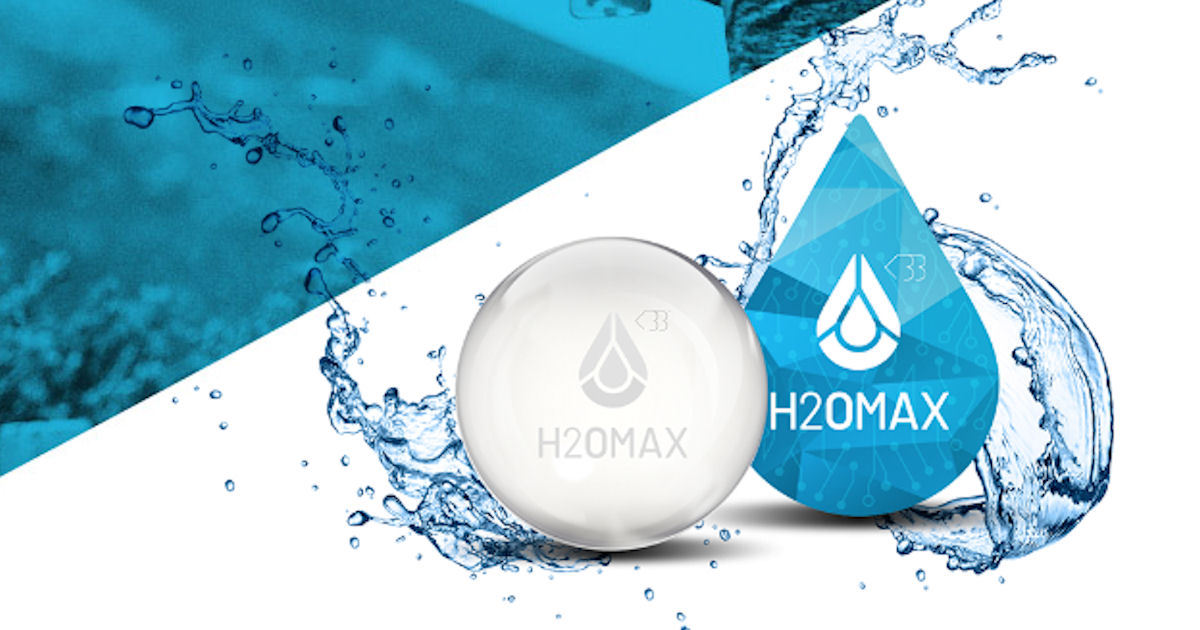 FREE H2OMAX Hydration Sticker.