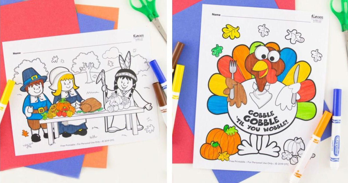 FREE Fall & Thanksgiving Coloring Pages