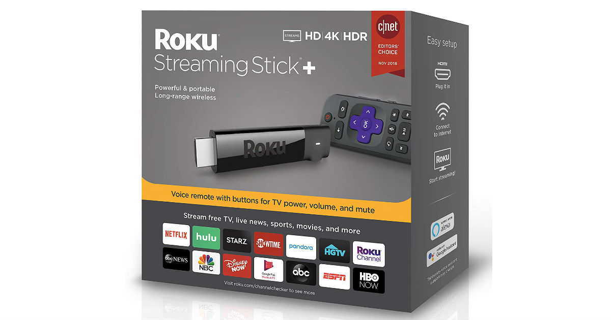 Roku Streaming Stick+ 4K HDR ONLY $29.99 (Reg $60)
