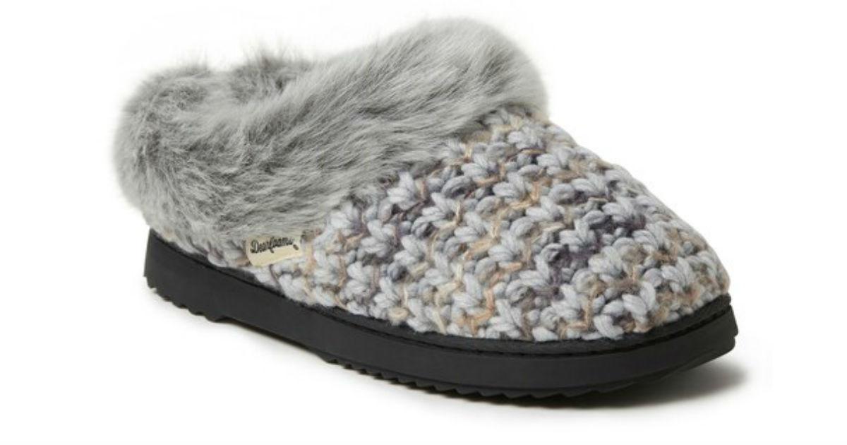 Women's Dearfoams Slippers ONLY $10.56