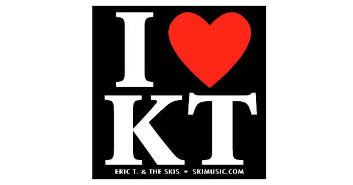 FREE I Love KT Vinyl Sticker..