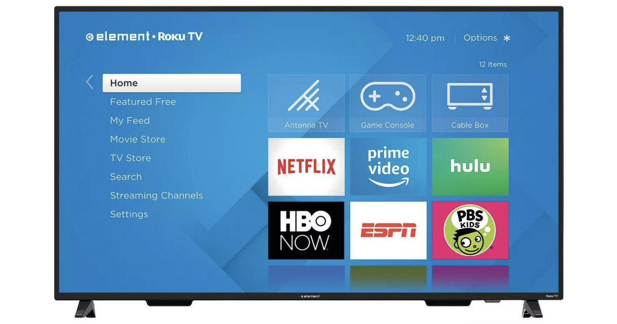 Element 65-In 4K Roku Smart TV ONLY $279.99 at Target