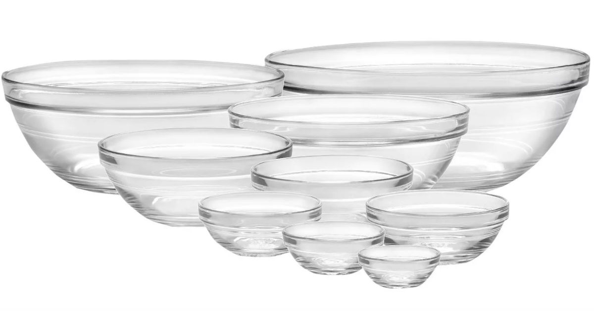 Duralex 9pc Glass Stackable Bowls ONLY $14.24 (Reg $29) at Target