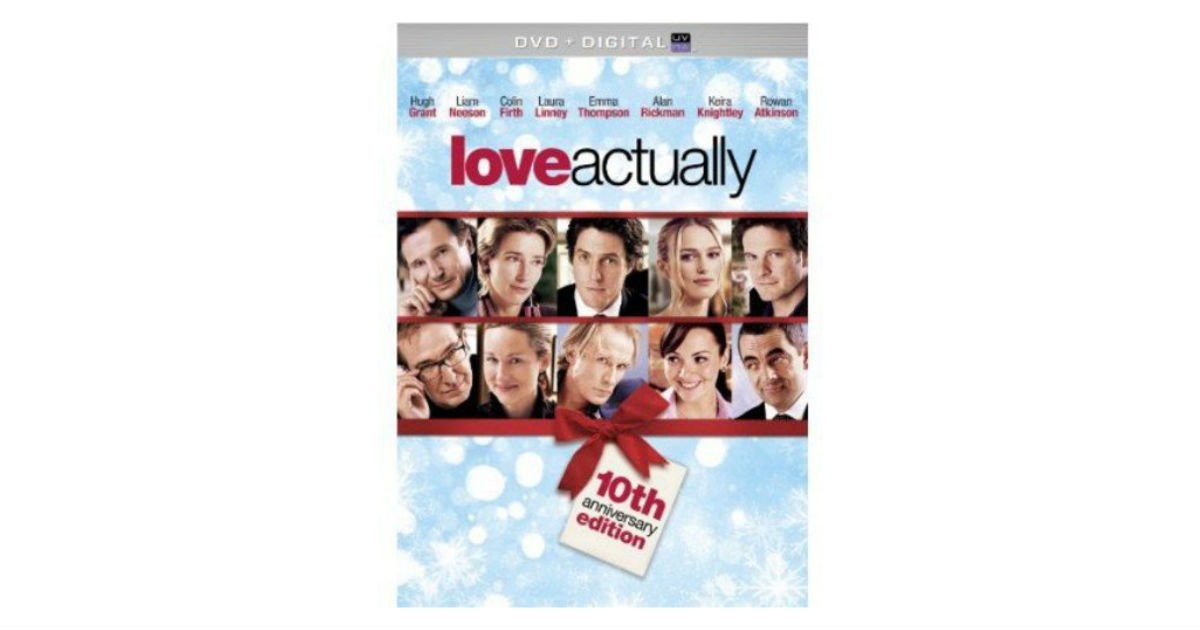 Love Actually on DVD + Digital ONLY $5.00 on Amazon (Reg. $10)