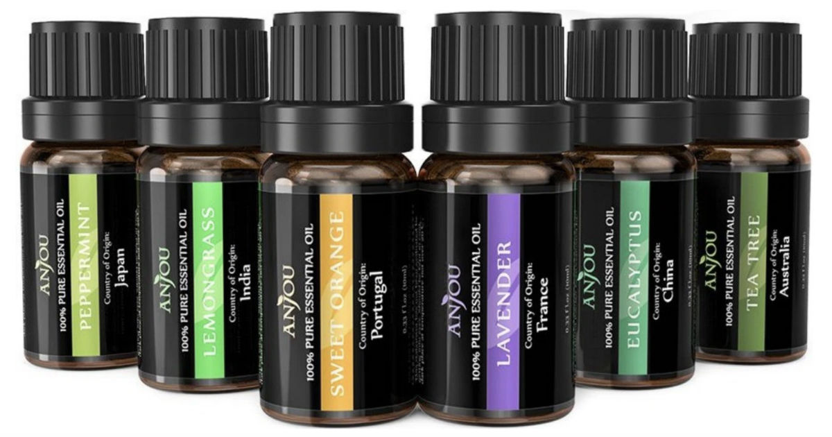 Essential Oils 6-Piece Set ONLY $10.99 at Amazon