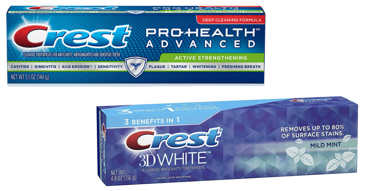 Crest Pro-Health or 3D White Toothpaste ONLY $0.32 at CVS